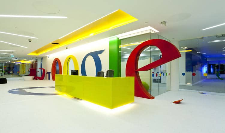 Inside Google's London office photo credit: fastcodesign.com