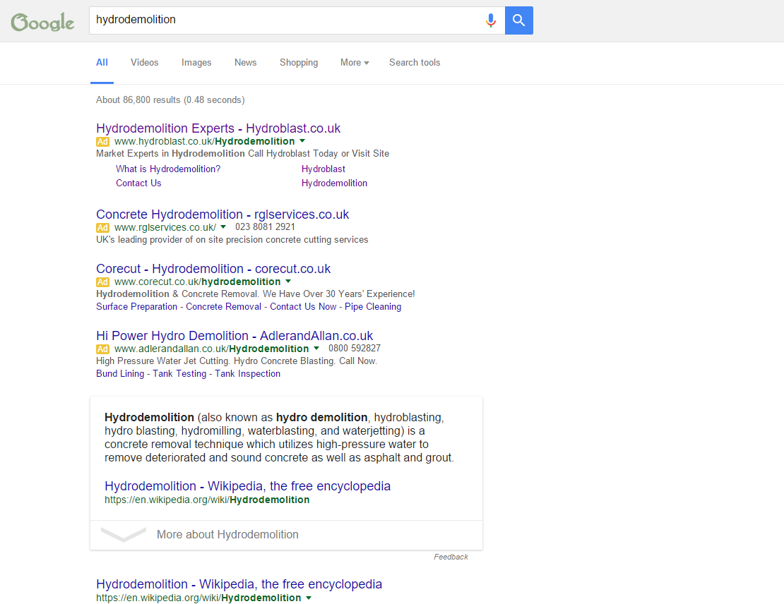 The New Desktop Search Page Layout