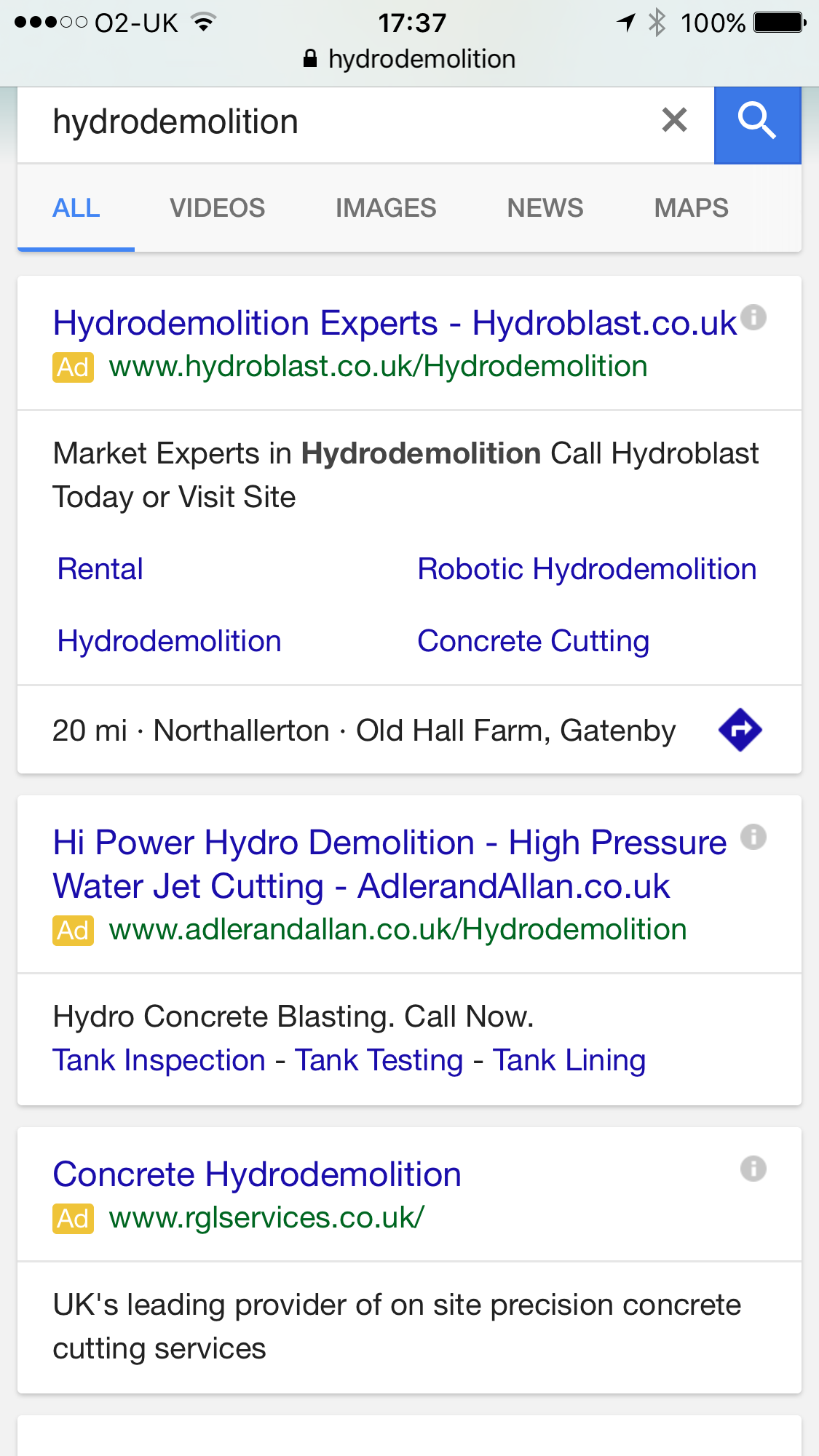 The Mobile Search Page Layout