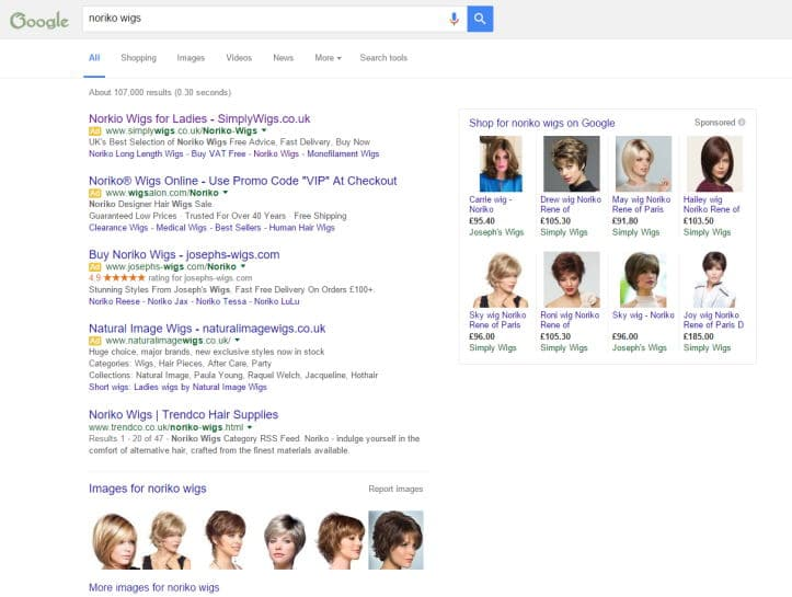 New Search Ads Layout