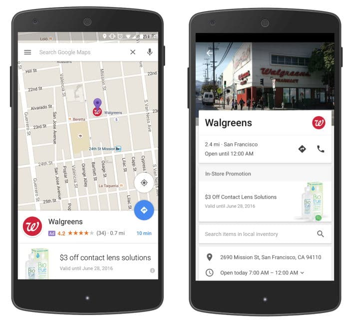 New Google Location Based Ads in Maps - the promoted pin and new business page