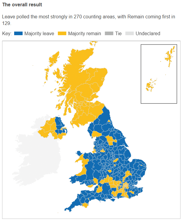The overall result of the EU Referendum 2016]