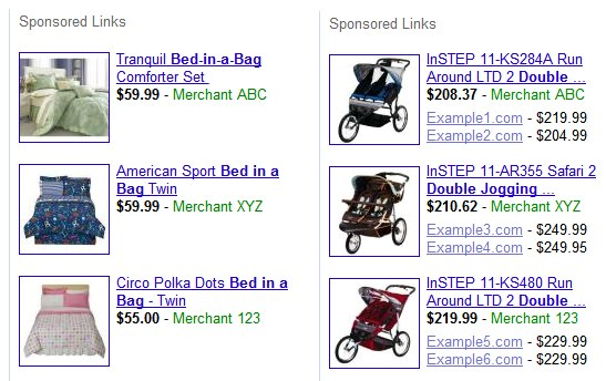 Google Product Listing Ads, the forerunner to Shopping Ads