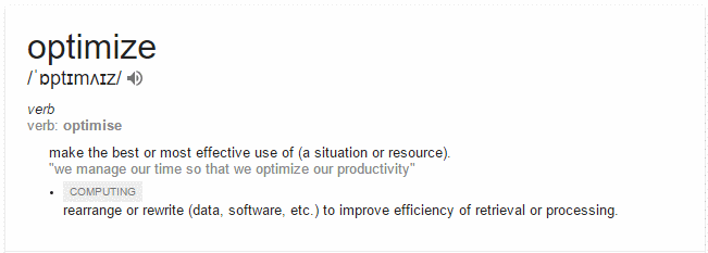 optimise-definition-google