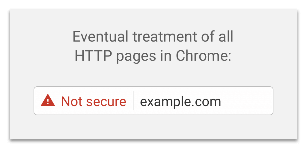 Chrome Not Secure warning on HTTPS