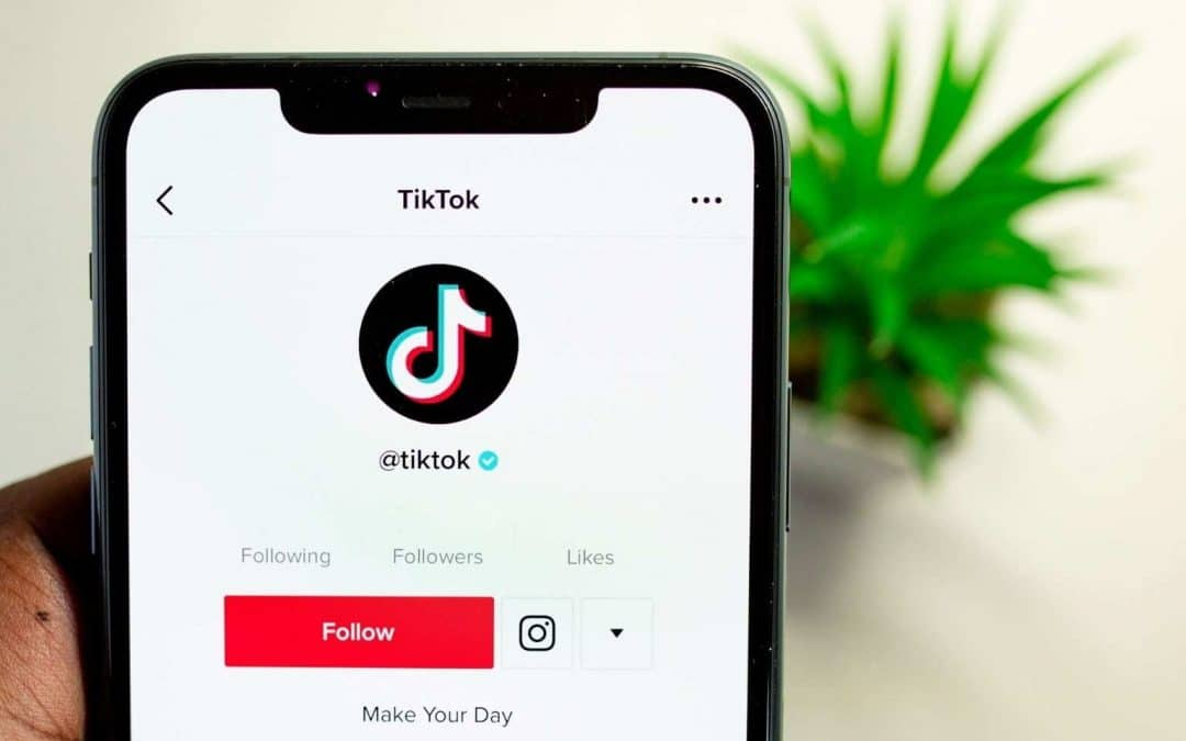 Close up of the app TikTok on an iPhone