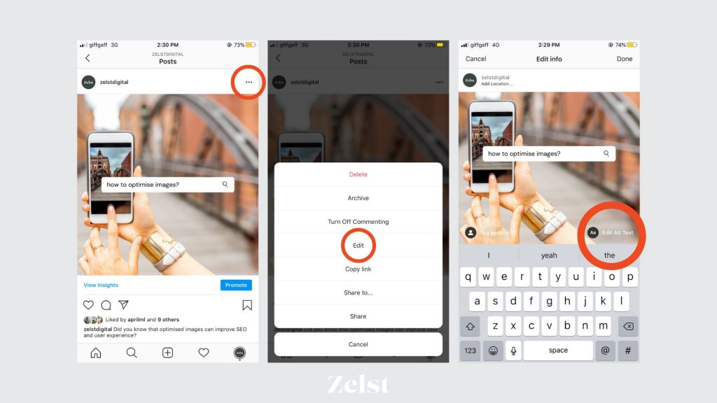 A visual guide to adding Alt Text to Instagram posts retrospectively